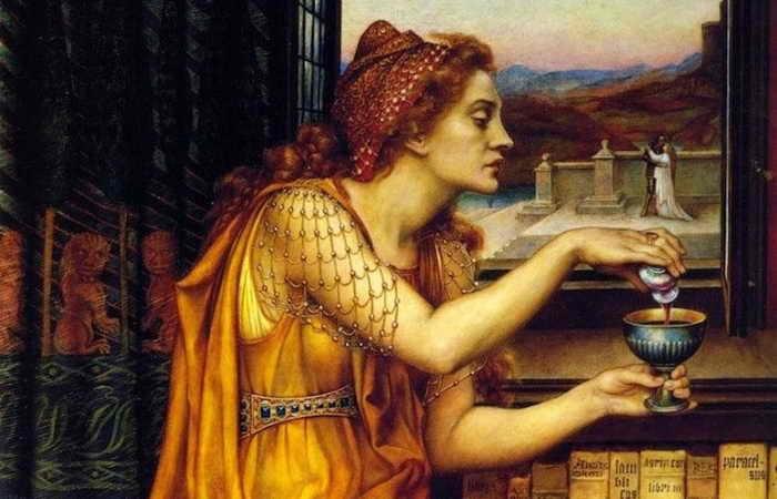 Как будущий святой пытался приворожить будущую святую: любовная магия в раннем христианстве и Средние Века. Фрагмент картины Эвелин де Морган.