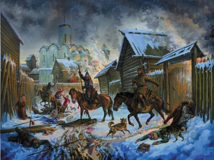 Русские города сопротивлялись, и монголы разрушали их беспощадно.